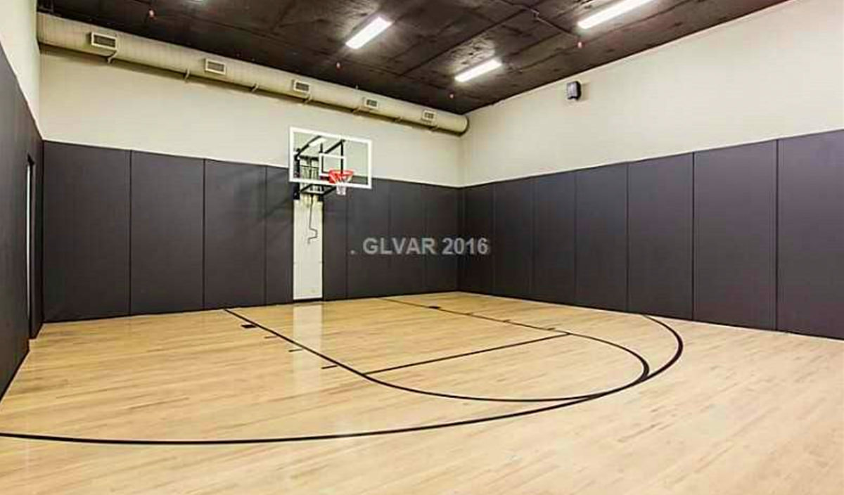 Top 5 las vegas homes with indoor courts luxury homes for How many square feet is a basketball court