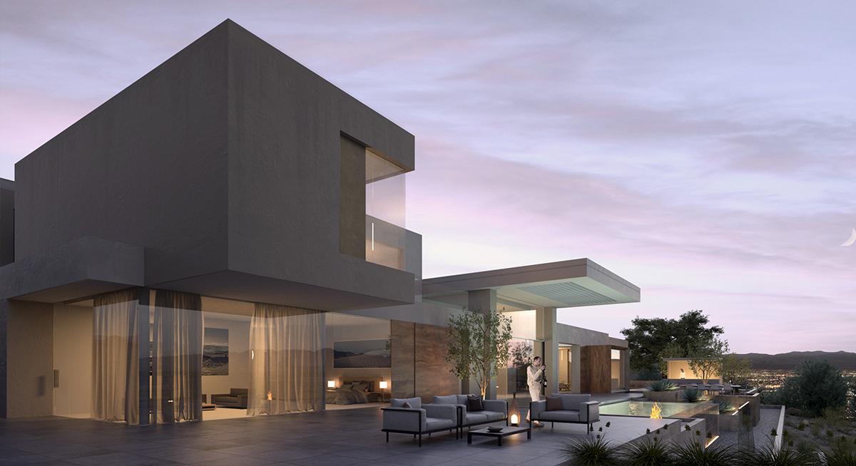Cascade Custom Home - 3D Rendering