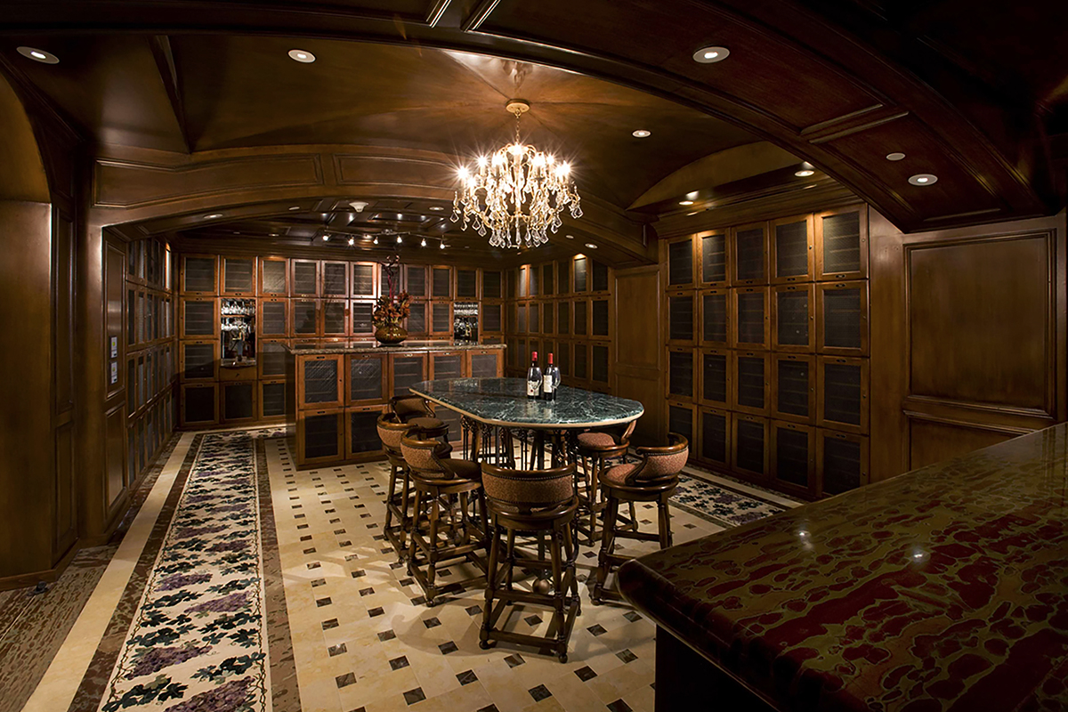 One Queensridge Place Tower wine room