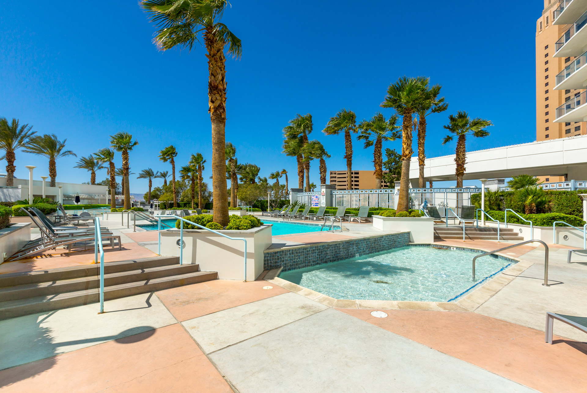 sky las vegas outdoor resort-style swimming pool deck